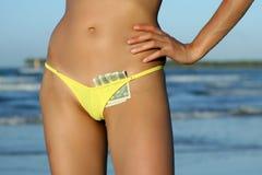 Cash In Bikinis Royalty Free Stock Photos