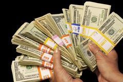 Cash In Hand Royalty Free Stock Image