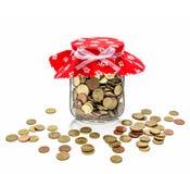 Cash in jam jar royalty free stock image