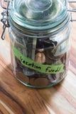 Cash in a jar Stock Photos