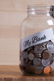 Cash Jar Filled for my Bank Stock Images