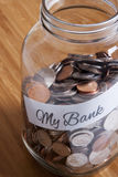 Cash Jar Filled for my Bank Stock Photo