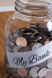 Cash Jar Filled for my Bank Royalty Free Stock Photo