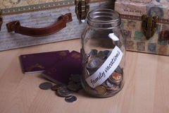 Cash Jar Filled for my Vacations Stock Photo