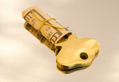 Cash is the key ! Royalty Free Stock Photography