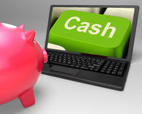 Cash Key Shows Online Finances Earnings Stock Photography