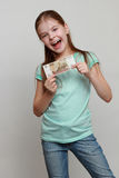 Cash and kid Stock Photography