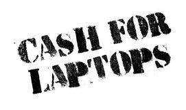 Cash For Laptops rubber stamp Royalty Free Stock Photo
