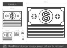 Cash line icon. Royalty Free Stock Image