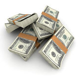 Cash. Lots of stacks of hundred dollar bills Royalty Free Stock Photography