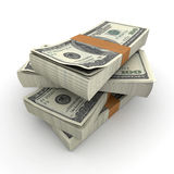 Cash. Lots of stacks of hundred dollar bills Royalty Free Stock Images