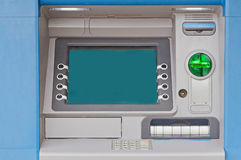 Cash Machine. Detailed view of cash machine during the daytime Royalty Free Stock Photography
