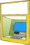 Cash machine. On a white background, vector Stock Image