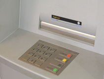Cash machine ATM. Cash machine slot and panel Stock Photo