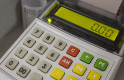 Cash machine, assegni della stampa Immagini Stock Libere da Diritti