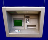 Cash machine. ATM. cashpoint. hole in the wall. bank. Automated teller machine. is an electronic telecommunications device that enables the customers of a Royalty Free Stock Images
