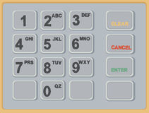 Cash Machine ATM Keypad Stock Image