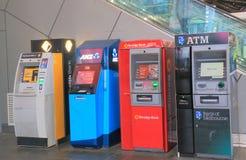 Cash machine ATM queue Melbourne Australia. ATM cash dispensers in downtown Melbourne Australia Royalty Free Stock Photography