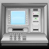 Cash machine with blue blank screen  Stock Photo