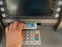 Cash machine del depositante Immagini Stock