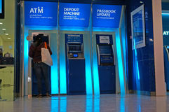 Cash machine di BANCOMAT Immagine Stock