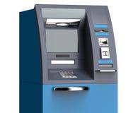 Cash machine di BANCOMAT isolato su fondo bianco Illustrazione Vettoriale