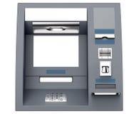 Cash machine di BANCOMAT isolato su fondo bianco Fotografia Stock Libera da Diritti