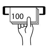 Cash machine icon. Isolated on white stock illustration