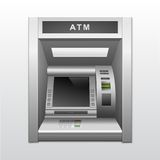 Cash machine isolato della Banca di BANCOMAT Fotografia Stock Libera da Diritti