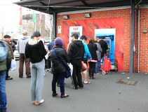 Cash machine queue Stock Photos