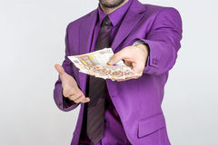 Cash man Stock Photography