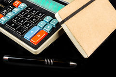 Cash management on retro style calculator Stock Image