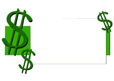 Cash and Money Dollar Signs. A money and cash symbol illustration which can be used as a template for logos, signs or print to enhance sales graphics in bringing Royalty Free Stock Photo