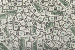 Cash money dollars. Close up view of cash money dollars bills in amount Stock Photography