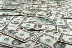 Cash money dollars. Close up view of cash money dollars bills in amount Stock Images