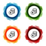 Cash Money Euro Bank Icons. Eps10 Vector vector illustration