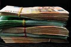 Cash money. euro bills. Euro currency money. Euro money bank for your budget to investment Stock Photo