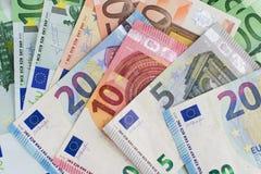 Cash money - euro bills , european money Royalty Free Stock Images