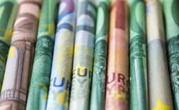 Cash money - euro bills , european money Stock Photography