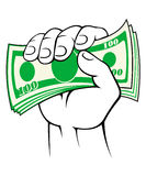 Cash money in hand Royalty Free Stock Photography