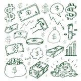 Cash money hand drawn symbol Royalty Free Stock Images