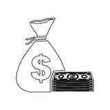 Cash money icon image. Vector illustration design Stock Images