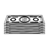 Cash money icon image. Vector illustration design Stock Images
