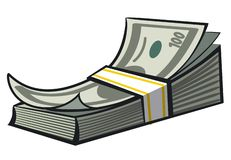 Cash money stack stock images