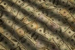 Cash money of various banknote denominations Royalty Free Stock Photography
