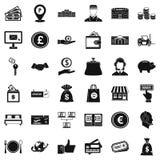 Cash motivation icons set, simple style. Cash motivation icons set. Simple set of 36 cash motivation vector icons for web isolated on white background Stock Photo