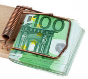Cash in Mousetrap Stock Images