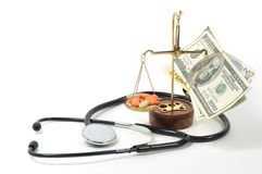 Cash for necessary medicine Stock Photo