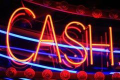 Cash Neon Sign Stock Photos