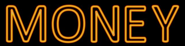 Cash neon sign. Abstract 3d rendered words cash orange neon sign on black background stock illustration